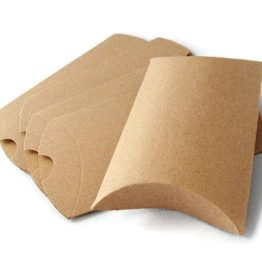 brown craft pillow boxes